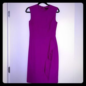 dark fuschia jcrew shift dress